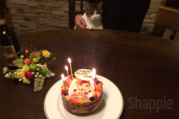 似顔絵ケーキ-サプライズ