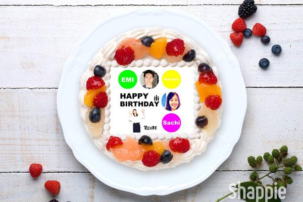 アールキューブの写真ケーキ