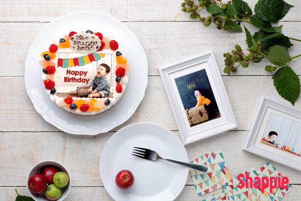 写真入りバースデーケーキ