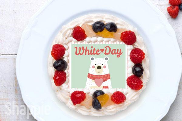 ホワイトデー プリントケーキ