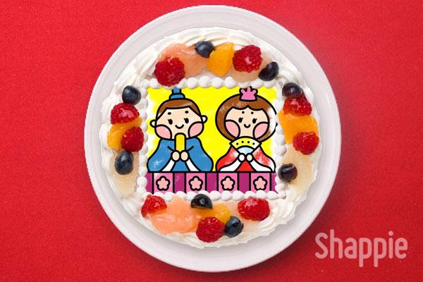 ひな祭りケーキ-こどもの絵