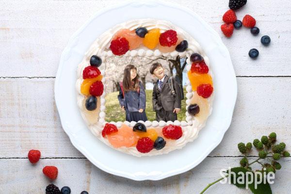入学式写真ケーキ